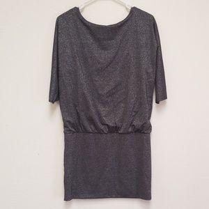 White House Black Market Dress Silver Sparkle XS